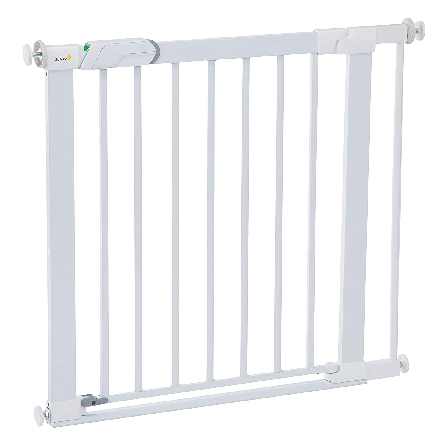 Safety 1St Flat Step Pressure-Mounted Baby Gate, White, One Size
