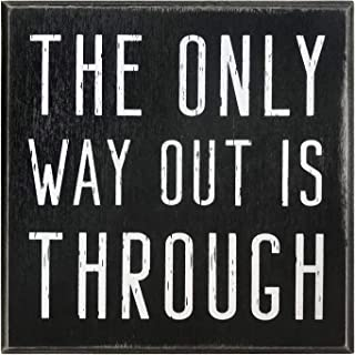 The Only Way Out is Through Motivational Wall Art Decor 5