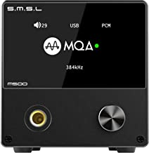 S.M.S.L M500 DAC Headphone Amp Supports MQA decoding ES9038PRO D/A chip USB Uses XMOS XU-216 with Remote Control (Black)