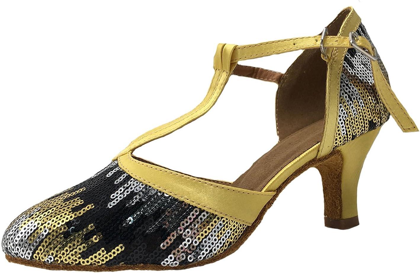 Honeystore Women's Latin Dance Closed Toe T Mary Max 81% OFF Strap Ranking TOP3 Glitter J