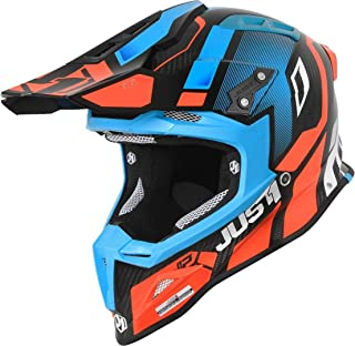 Just1 J12 Vector Carbon Motocross Helm Orange/Blau XS
