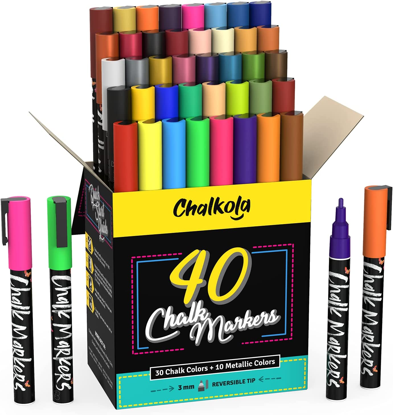 Fine Tip Chalk Reservation Markers - Pack C Challenge the lowest price of Japan ☆ Neon of 40 Metallic Classic