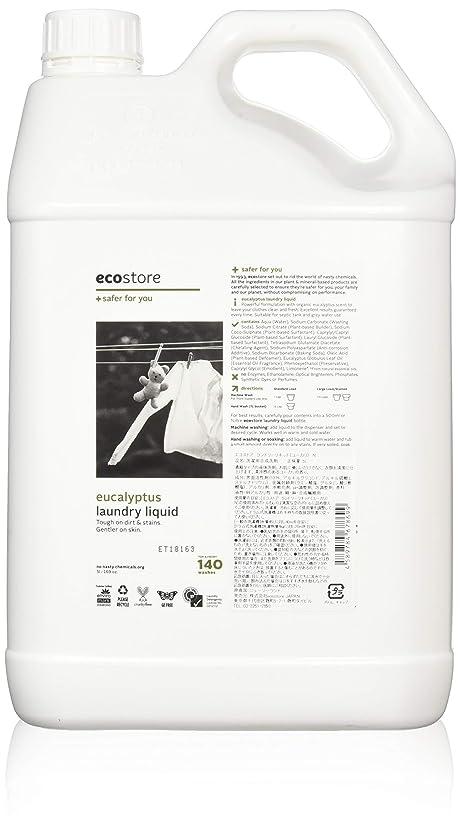 バスルーム収まる道ecostore エコストア ランドリーリキッド 【ユーカリ】 大容量 5L 洗濯用 液体 洗剤