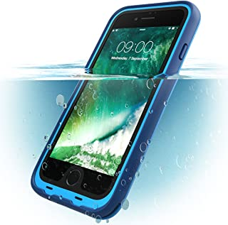 i-Blason Case for iPhone 7 Plus 2016 / iPhone 8 Plus 2017 Release, [Aegis] Waterproof Full-Body Rugged Case with Built-in Screen Protector (Blue)