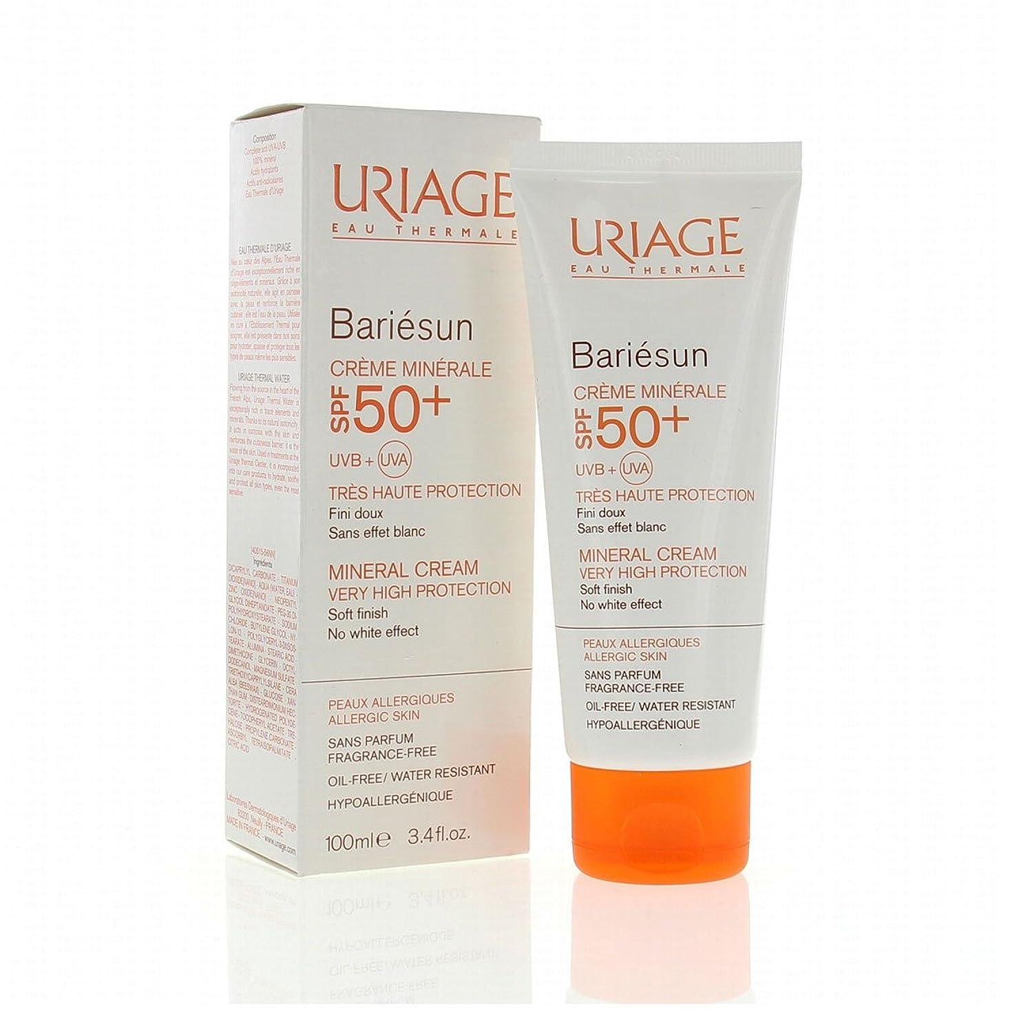 誘惑お誕生日インフレーションUriage Bariesun Mineral Cream Spf50+ 100ml [並行輸入品]