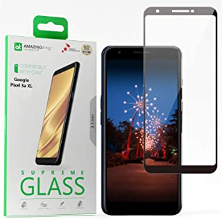 Amazing Thing Google Pixel 3a XL Full Cover Glass Screen Protector - Tempered Supreme Glass 2.5D