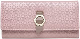Elios Textured PU Leather Trifold Ladies Clutch RFID Blocking Phone | Credit Card Holder |Organizer |Purse |Wallet for Wom...