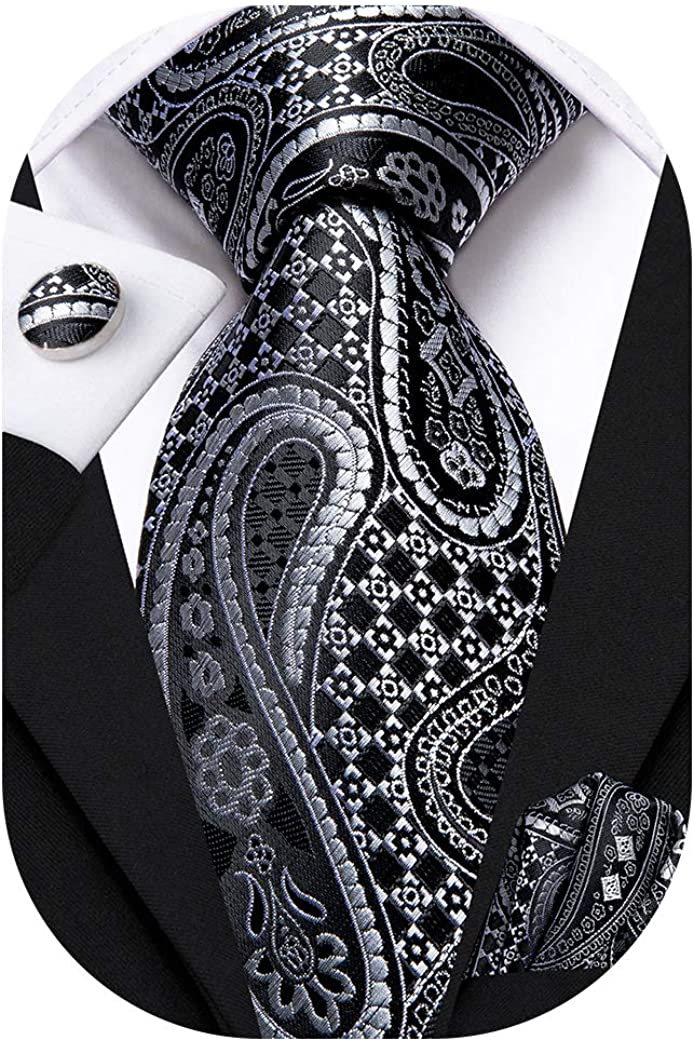 Hi-Tie Silk Paisley Complete Free Shipping NEW before selling Necktie and Set Pocket Cufflinks Square
