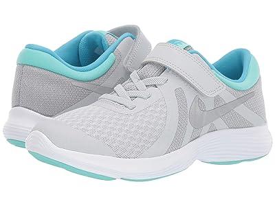 Nike Kids Revolution 4 (Little Kid) (Pure Platinum/Metallic Silver/Wolf Grey) Girls Shoes