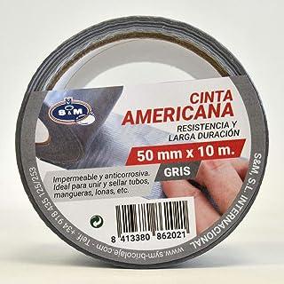 S & M nastro Americana Grigio 50mm X 10m saneaplast- nastro adesivo Americana isolante–rotolo di 10metri