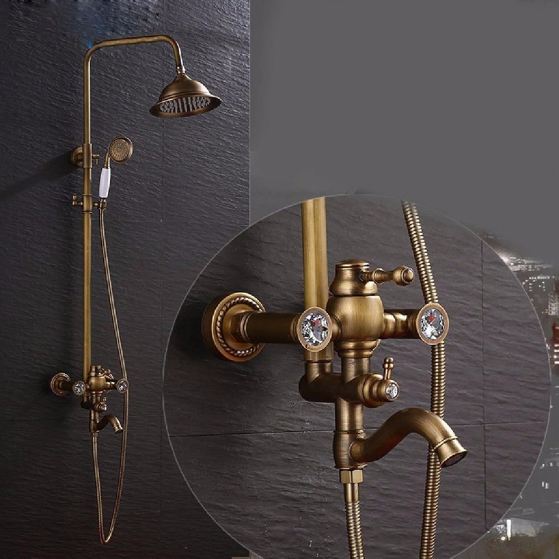 Gyps Faucet Waschtisch-Einhebelmischer Waschtischarmatur BadarmaturTippen Sie auf die Wasserhhne Antike Badezimmer Dusche Wasserhahn Riser Kit Dusche,Mischbatterie Waschbecken