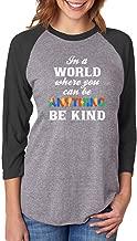 قميص جيرسي بيسبول بأكمام 3/4 للنساء للتوعية بالتوحد من Tstars - Be Kind