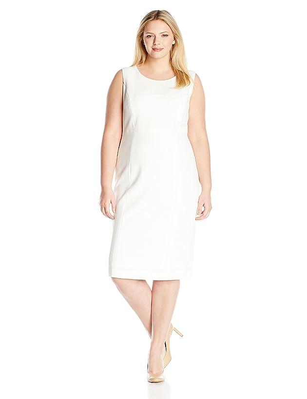 Kasper Women's Plus Size Stretch Crepe Sheath Dress