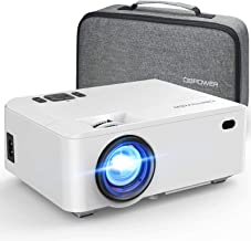 DBPOWER RD-820 Video Projector with Carry Case, 5500L Full HD 1080P and 200'' Display Supported, Portable Video Projector ...