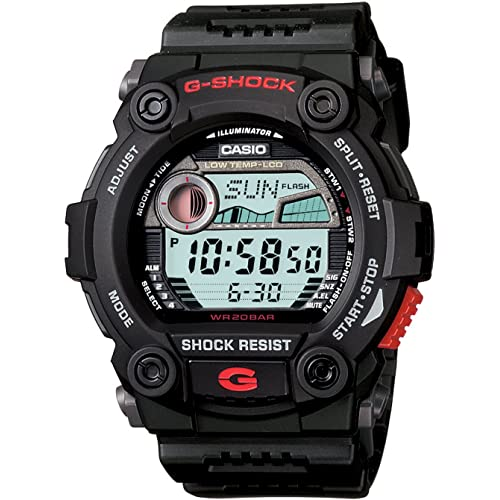 Casio Mens G7900-1 G-Shock Rescue Digital Sport Black Resin Watch