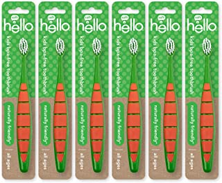 Hello Oral Care Kids & Toddler BPA-Free Soft Bristle Toothbrush, 6 Count