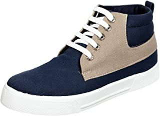 Salerno Two-Tone Textile Lace-Up Ankle boots with Pull Tab For Men