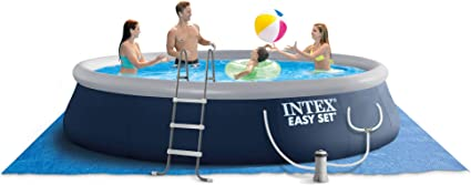 people hang out in inflatable tub