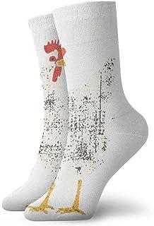 tyui7, Guess What Chicken Butt Calcetines de compresión antideslizantes Cosy Athletic 30cm Crew Calcetines para hombres, mujeres, niños