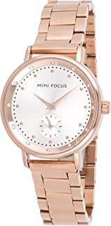 Mini Focus Womens Quartz Watch, Analog Display and Stainless Steel Strap - MF0037L.03