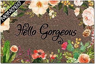 MOMOBO Funny Doormat Custom Indoor Doormat -Hello Gorgeous Funny Front Mats Home and Office Decorative Entry Rug Garden/Ki...
