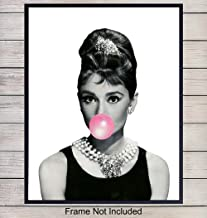 Audrey Hepburn Art Print - Funny Pop Art Wall Art Poster - Chic Modern Home Decor for Bedroom, Kitchen, Living Room - Great Gift for Women, Girls, Classic Hollywood Movie Fans - 8x10 Photo - Unframed