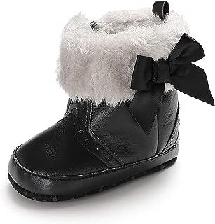 Baby Boy Girl Winter Warm Snow Boots Soft Sole Anti-Slip Bowknot Toddler Prewalker Newborn Infant Booties Crib Shoes