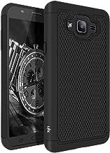 LK Case for Samsung Galaxy J7 (2015 Version), [Shock Absorption] Drop Protection Hybrid Armor Defender Protective Case Cover (Black)