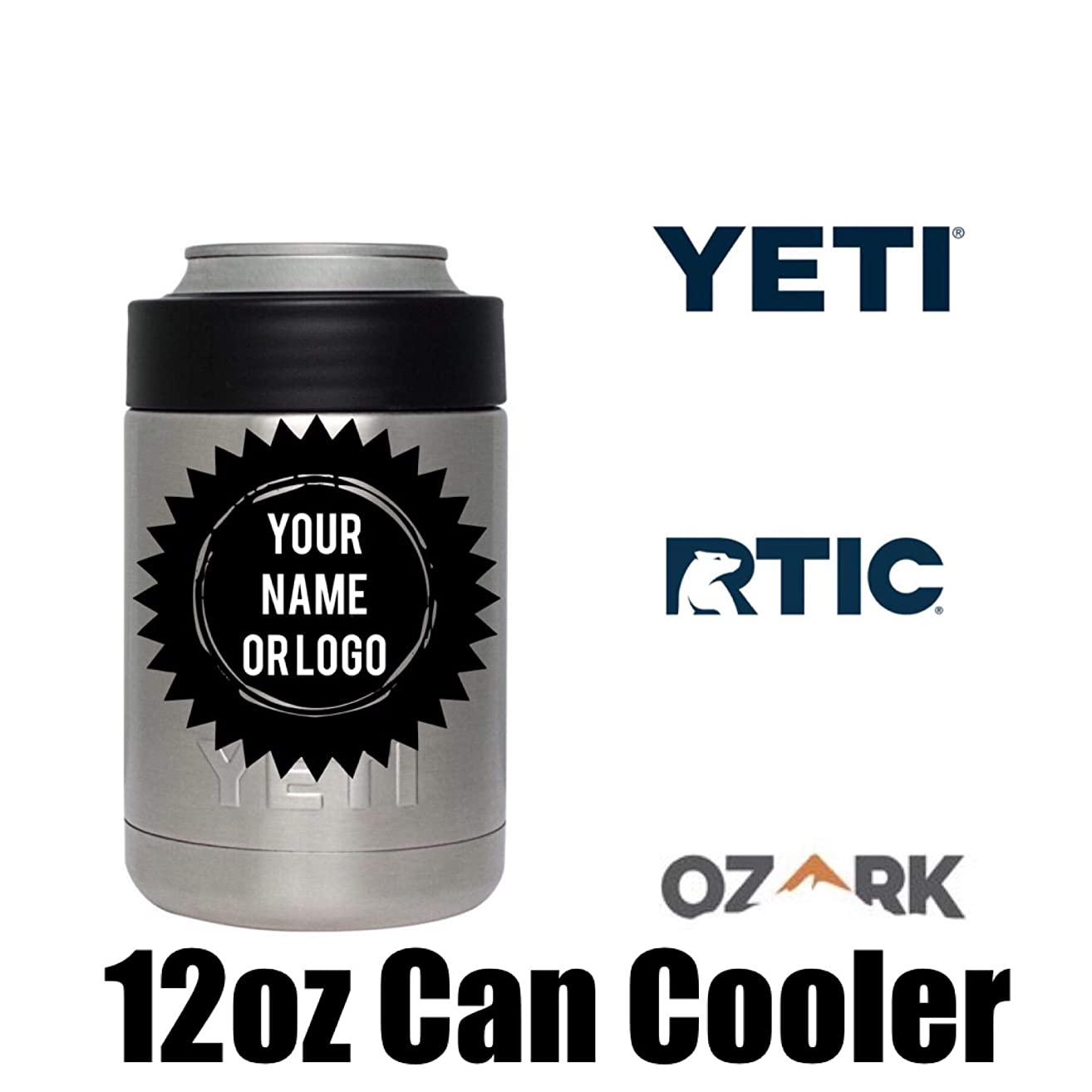 Custom Can Cooler, Multiple Colors & Brands (Yeti, RTIC, Ozark)