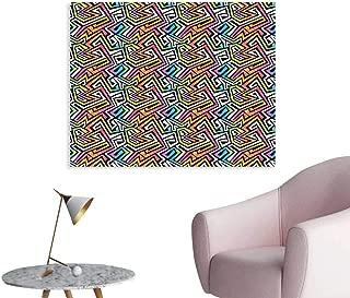 J Chief Sky Geometric Wall Paper Graffiti Maze Grunge Puzzle Vintage Fashion Stylish Feminine Wild African Modern Decor Sticker W24 xL16