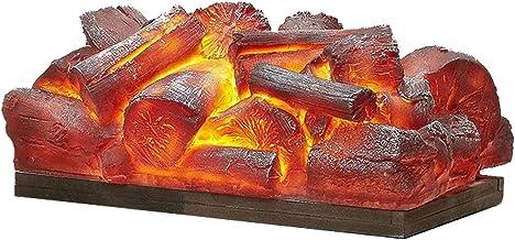 Estufa de Chimenea 13.8 pulgadas Registros de chimenea eléctrica Mini chimenea Insertar registro calentador 8W decorativo ornamental chimenea central Efectos de Llama Realistas, Sobrecalentamiento