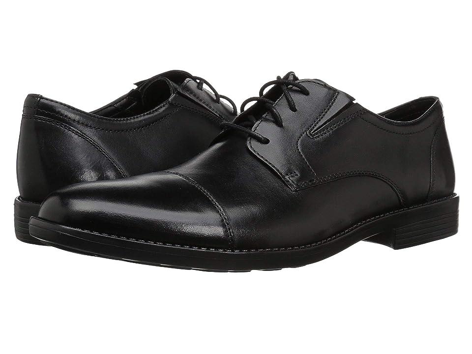 Bostonian Birkett Cap (Black Leather) Men