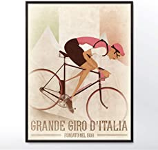 Giro D'Italia Vintage style Grand Tour Bicycle Bike Race Poster Wall Art Print Home Décor cycling, cycle