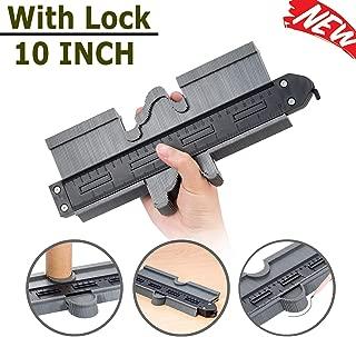 EtekStorm Contour Gauge with Lock Profile Gauge 10 Inch(25cm) Plastic Woodworking Shape Tracing Template Measuring Tool Precisely Copy Irregular Shapes Profile Copy Gauge Tool (10IN With Lock)