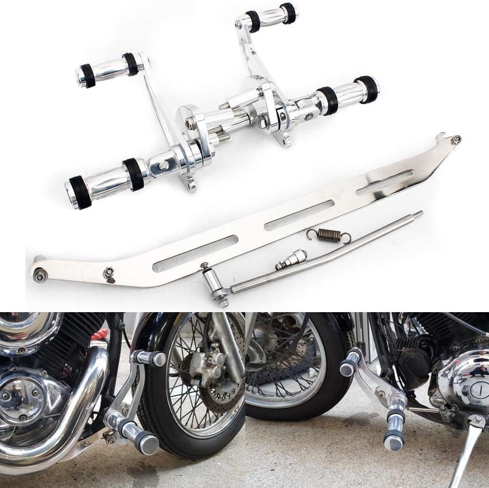Tarazon Silber 8cm Vorverlegte Fußrasten Fußrastenanlage Forward Control Für Yamaha Xvs400 Dragstar 1996 2001 V Star Xvs 650 1998 2016 Auto