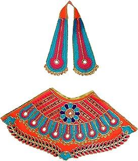 Orange Laxmi Durga Devi MATA Dress poshak vastra Cloth lehanga Chunari Puja Item for Idol Statues