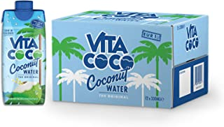 Vita Coco Natural Coconut Water, 330ml (Pack of 12)