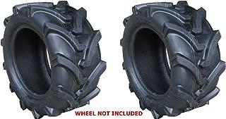 TWO 18X8.50-8 18X850-8 OTR Lawn Trac Bar Lug Tires 4 ply Rated Heavy Duty