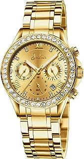 Dyshuai Multifunction Luxurious Diamond Quartz Stainless Steel Quartz Women's Wrist Watch 305