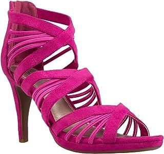 8274f12fb7127 Amazon.com: Hot Pink Sandals - Zip / Sandals / Shoes: Clothing ...