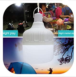 Led Bulb Rechargeable Night Light Portable Emergency Lights With Battery For Outdoor Barbecue Hanging Light For Patio Porch Garden,40W
