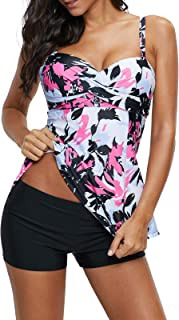 Women's Slimming Tummy Control Swimdress Swimwear Long Torso Tankini Swimsuit Retro Skirt Swimming Suit for Women