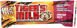 Tiger's Milk Protein Rich Nutrition Bar, Energy-Packed Snack, Zero Trans Fats, Fortified with Vitamins & Minerals, 1.23oz ...