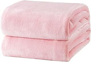 Bedsure Fleece Blanket Throw Size Pink Lightweight Throw Blanket Super Soft Cozy Microfiber Blanket