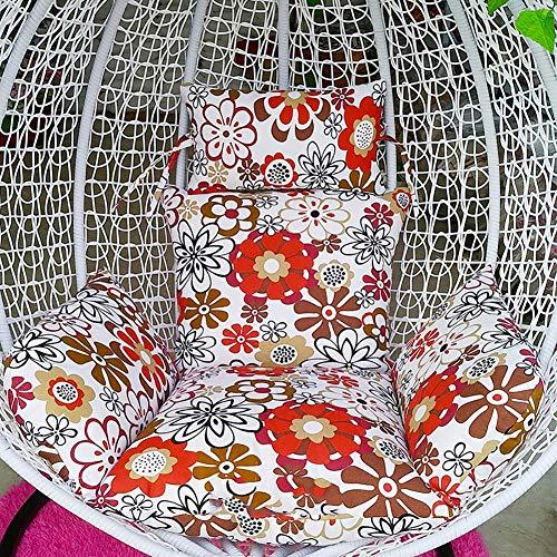 DPPD Egg Nest - Cojín para Silla, Grueso, con Cremallera, cojín extraíble para Silla, Almohadillas de algodón para Silla, Columpio, cojín Colgante, sillón, cojín S (Solo cojín)