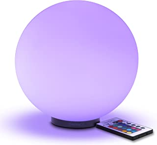 ENHANCE LED Dimmable Lamp - Premium Glass Color Changing Light with Remote Control - 7.9 inch Night Light Lamp, 4 Lighting Modes, Battery Power, or AC Adapter - Perfect for Children and Adults