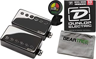 EMG JH James Hetfield Humbucker Pickup Set Black Chrome w/Geartree Cloth, Tuner