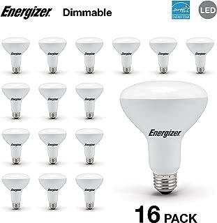 Energizer BR30 65 Watt Equivalent Energy Star LED Light Bulb (Dimmable), 16-Pack, Soft White
