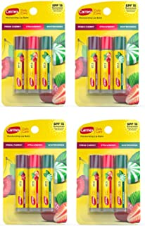 Carmex Daily Care Lip Balm Variety 0.15 oz (Pack of 4)