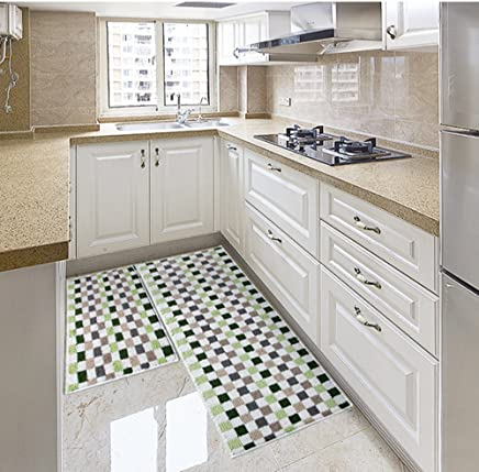 Amazon.com: Green - Kitchen Rugs / Kitchen & Table Linens ...